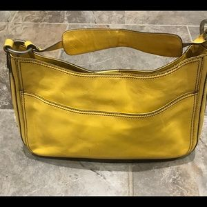 Hype yellow leather purse